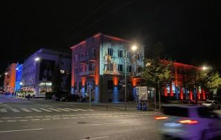 Gesamt-Illumination der WWS-Zentrale