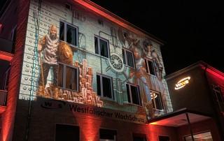 Illumination der WWS-Zentrale