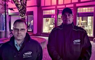 Security-Mitarbeiter sichern Recklinghausen leuchtet