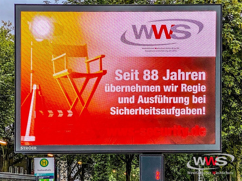 Plakatwand 88 Jahre WWS
